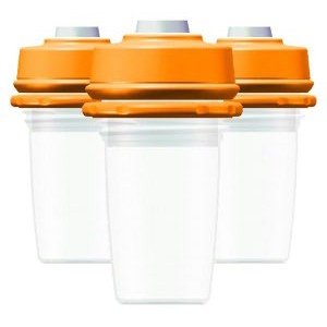 DEXBABY MilkBank 3-pack 4.5oz Vacuum Storage Bottles & Caps